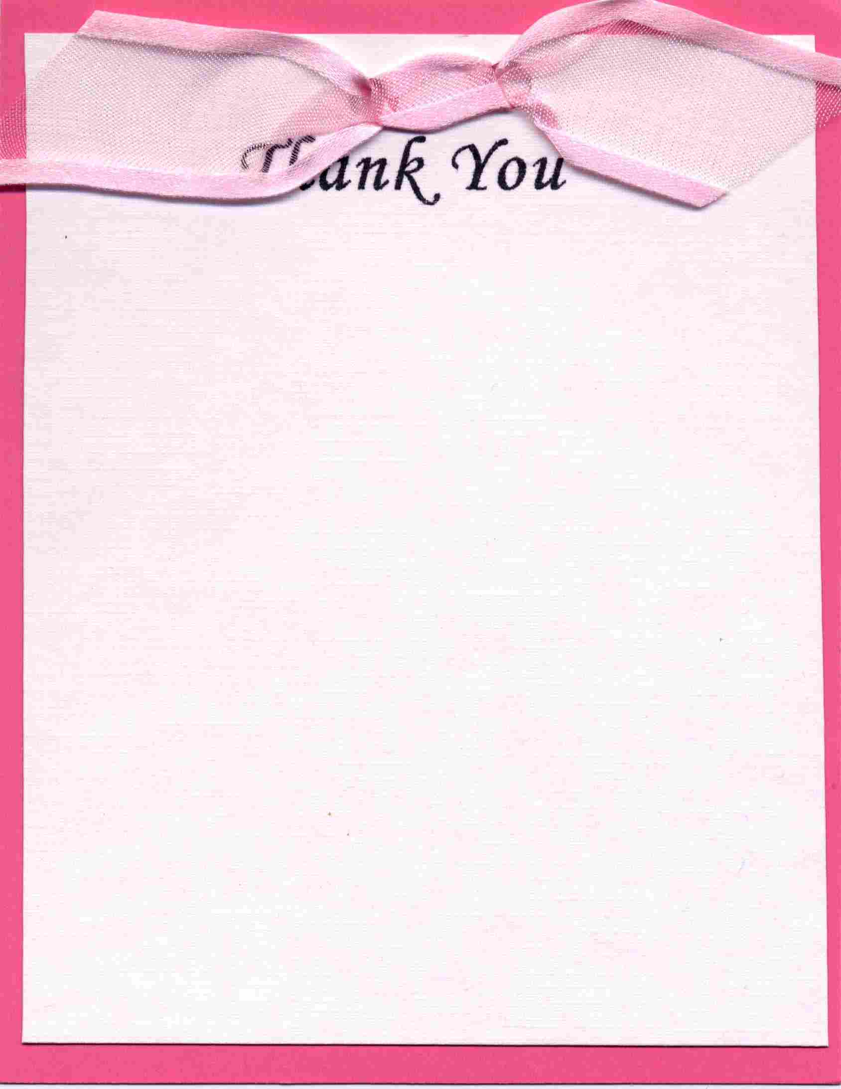 This thank you note is designed to be consistent with the invitations ...
